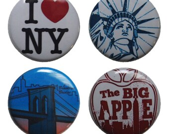 New York Magnets - set of 4 super strong magnets