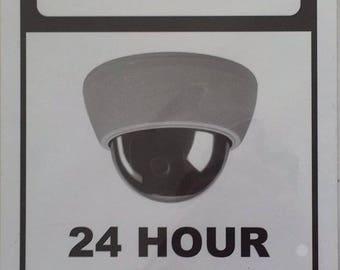 Warning 24 Hour Video SURVEILLANCE SIGN ( Aluminium 7x10 )