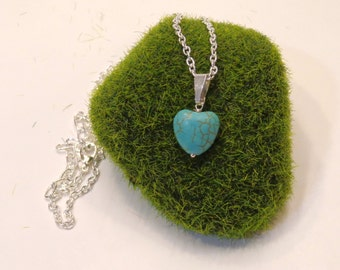 Howlite Turquoise Heart Necklace