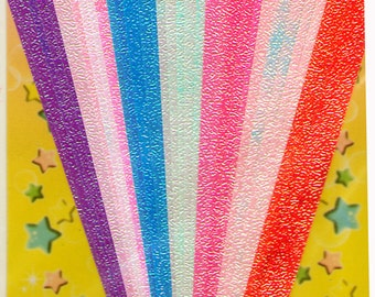 ORIGAMI PAPER Shiny Textured Shimmery 3D Star Kit