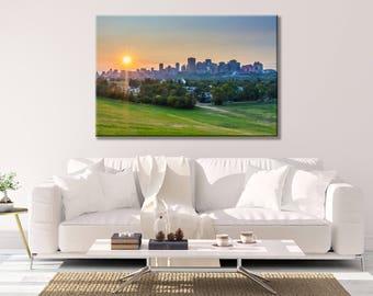 Edmonton Skyline Sunset