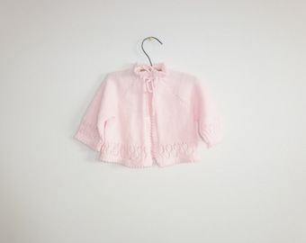 Vintage Light Pink Baby Sweater