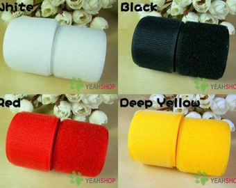 30mm Sew on Hook & Loop Tape - 100% Nylon - 1 Meter - 4 Colors Available