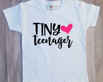Tiny teenager girl , baby , toddler shirt