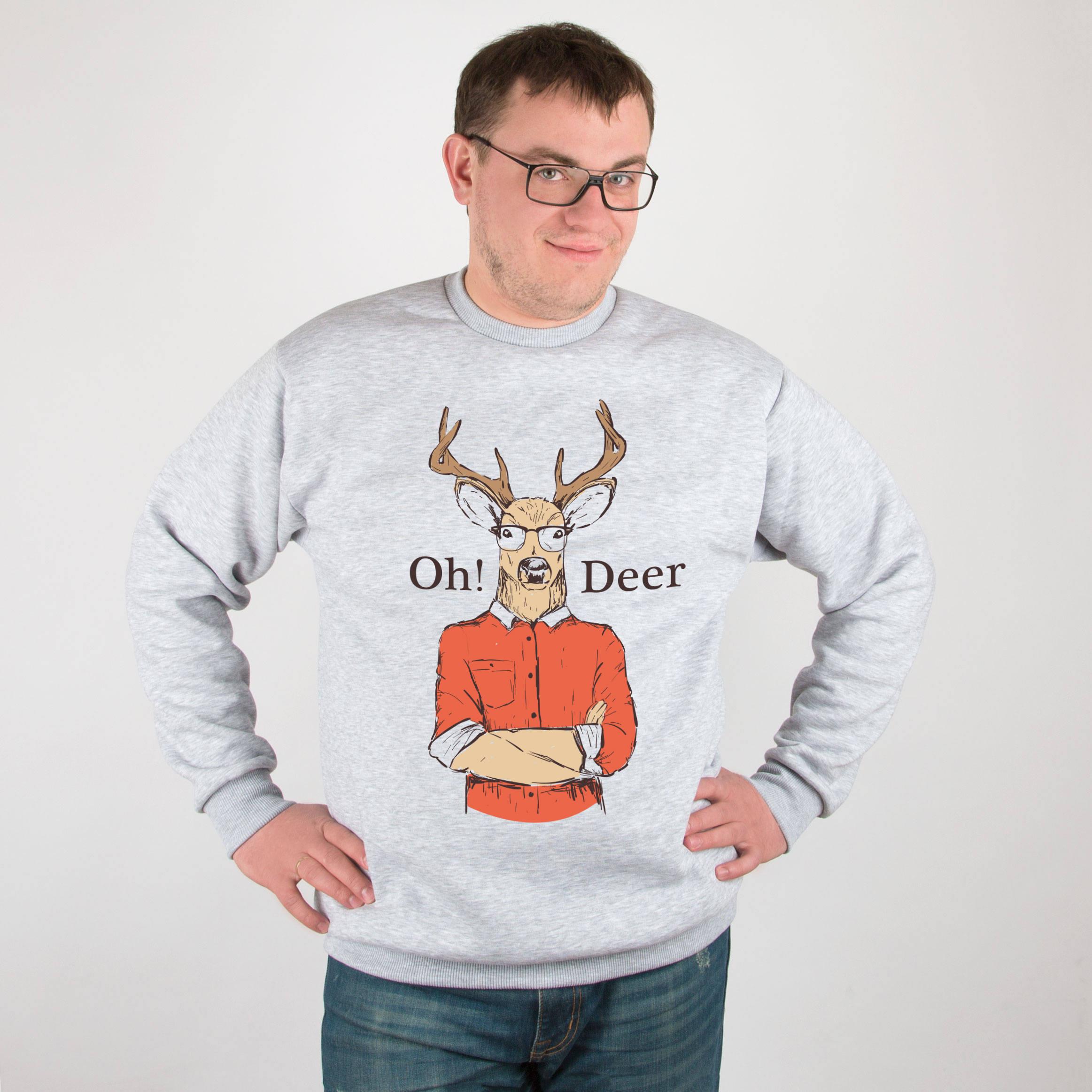 Deer Jumper Christmas Sweatshirt Oh Deer Sweatshirt Christmas