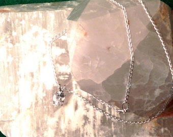 """9x7mm White Topaz & Sterling Silver 18"""" Necklace"""