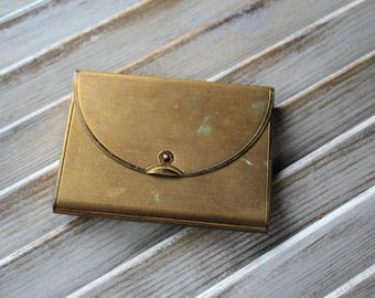 Vintage. Gold. Compact. Purse style. Coty.