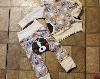 Grow with me woodland outfit