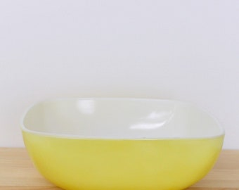 Yellow Square Pyrex Salad Bowl, AKA Hostess Collection