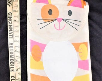 Vintage Cat Kitty Lunch Bag Insulated Box Sack