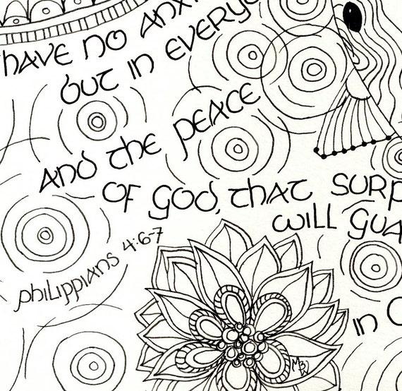 printable philippians 4 6 7 scripture art coloring page for grownups - Philippians 4 6 Coloring Page