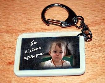 Keychain style slate to school with your favorite photo