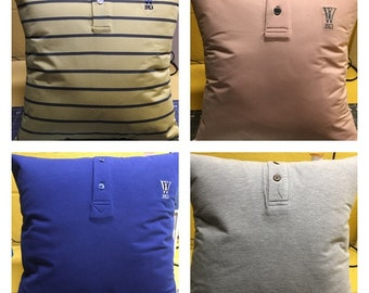 Custom Memory Pillow, Keepsake Pillow. Pillow custom made from your shirt or the shirt of a loved one. Makes the perfect gift.