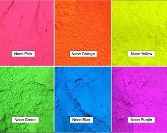 Neon 6 Pack Color Pigment Powder (Matte)