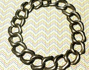Vintage 1980s Large Gold Status Chain Necklace. F