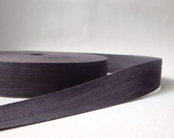 50 cm width 3 cm dark grey Twill cotton Ribbon