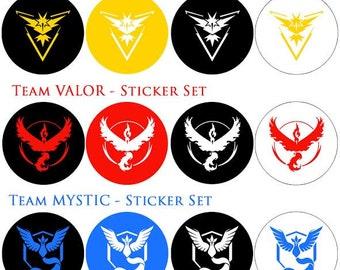 Pokemon Go Team Stickers