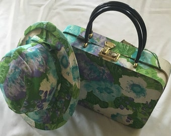 Vintage  Floral Hat & Purse Set, The MAY Company/Higbee