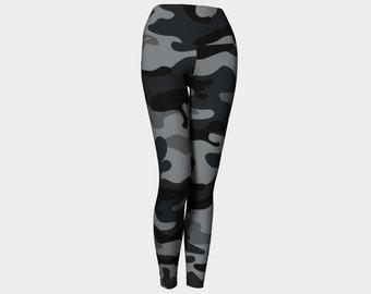 Black Camo Yoga Leggings