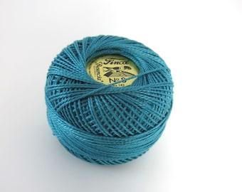 Teal Green Finca Perle Cotton Thread