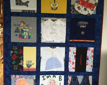 Memory Quilt in 3D with Sashing