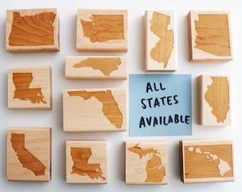US State Rubber Stamp