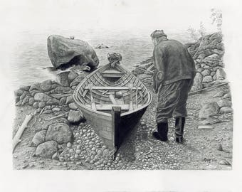 Boat and Man