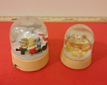 Vintage Merrilite Snow Globes with Music Box