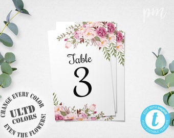 Wedding Table Numbers Etsy