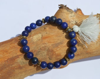 Tibetan natural stones with tassel beaded bracelet
