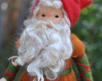 Red hat Gnome Waldorf inspired  doll