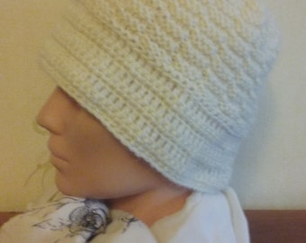 Knitted hat, winter hat,  wool hat, knitted hat with a crocheted edge