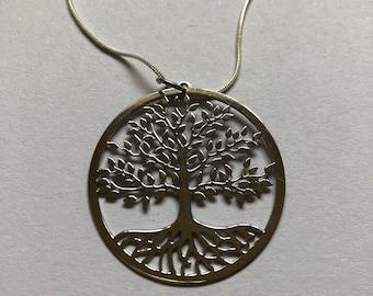 Laser cute tree of life pendant