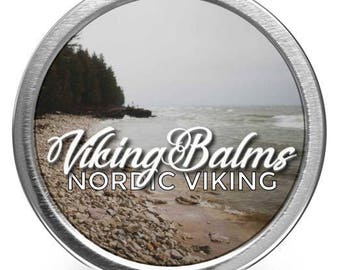 VikingBalms - Nordic Viking - All Natural Beard Balm - 2oz