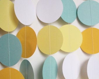 Baby Shower Decor. Paper Garland. Baby Boy Shower Decoration