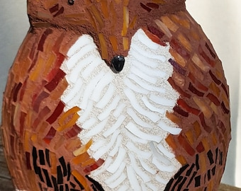 Stained Glass Mosaic 3-D Fox Statue