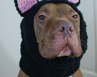 Black Cat Dog Snood MADE TO ORDER