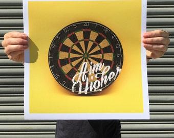 "Aim Higher - digital art print 12""x12"""