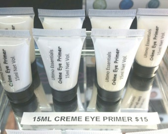 Ultimo Minerals 10ml CREME EYE PRIMER Natural Cocoa Butter Infused for Eye Shadow: Makes Eyeshadow Sweatproof - Smudgeproof - Creaseproof!