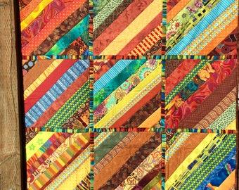 Handmade lap quilt, wheelchair quilt, patchwork quilt