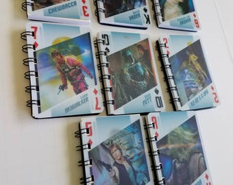 15 Star Wars 3D Changing Notebooks - Star Wars Birthday Party - Star Wars Notepads - Recycled Trading Cards - Star Wars Party Favors