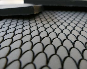 """Fish / Mermaid Scale Pattern EVA Foam Sheets for Cosplay Armor , Props & Accessories. Laser Engraved Etched Maille Designs 1/2"""" Floor Mat"""