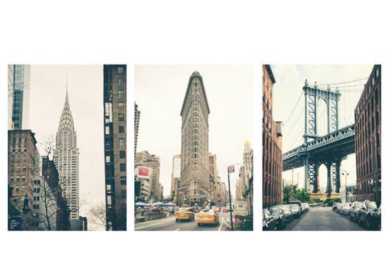 Sale new york wall art print set new york photography set