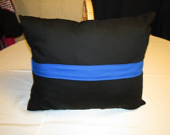 Thin Blue Line Police officer pillow