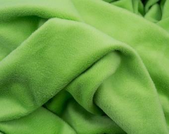 Alpenfleece light green, cuddly fleece