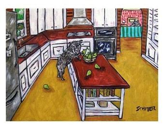 Javelina Pear Thief Art Print