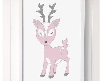 Darling Deer Print