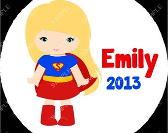 Superman Girl or Boy Super Hero Christmas Ornament Personalized for you Snowflake or Disc Christmas Holiday Ornament