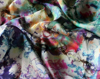 Unicorn Tears Multicolored Rainbow Playsilk  ~ Hand Dyed ~ Waldorf Inspired~ Scarf