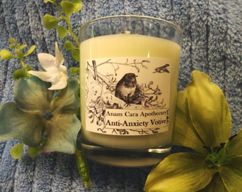 Anti-Anxiety Aromatherapy Votive Candle - Aromatherapy Candle,  Essential Oils Candle, Anxiety Relief, Tension Relief, Calming Aromatherapy